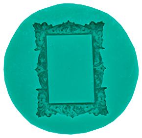 Molde de silicone com Forma de Porta Retrato/Moldura. Ideal para utilizar com Pasta Americana.
