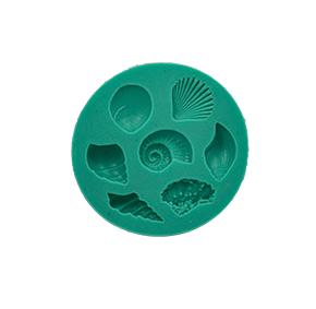 Molde de Silicone com formas de Fundo do Mar com 7 cavidades. Ideal para utilizar com Pasta Americana.