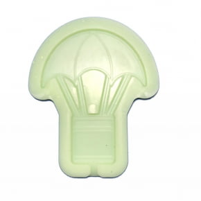 Molde de silicone em formato de balão . Ideal para ser utilizado com pasta americana ou para fazer pirulito.
