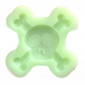 Molde de silicone em formato de caveira/halloween. Ideal para ser utilizado com pasta americana.