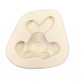 Molde de silicone em formato de Coelho Sentado Grande-Páscoa