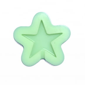 Molde de silicone em formato de estrela. Ideal para ser utilizado com pasta americana e para fazer pirulito.