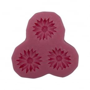 Molde de Silicone em formato de Girassol Margarida Crisântemo com 3 peças iguais - Jardim