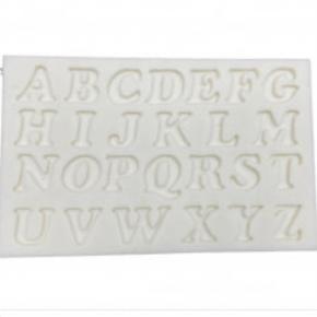 Molde de Silicone em formato de Letras do Alfabeto Maiúsculas