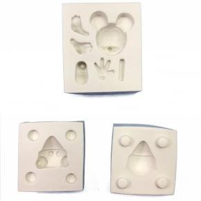 Molde de silicone em formato de Mickey 3D