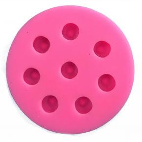 Molde de silicone em formato de Mirtilo. Ideal para ser utilizado com pasta americana.