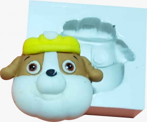 Molde de silicone em formato de Patrulha Canina Bubble