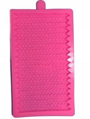 Molde de silicone em formato de Placa de Tricô