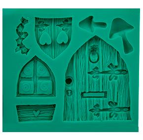 Molde de Silicone em formato de Porta e Janela.