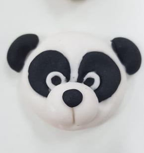 Molde de silicone em formato de Urso Panda-Safari
