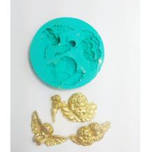 Molde de Silicone em formato de Anjos com 4 Cavidades. Ideal para utilizar com Pasta Americana.