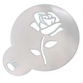 Stencil para Textura de Rosa para biscoitos, bolos, doces, cafés e cupcakes