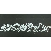 Stencil para Textura em Pasta Americana - Arabesco com Flor e Folhas