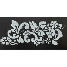 Stencil para Textura em Pasta Americana - Arabesco com Flor