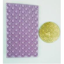 Placa de Textura Marcador Losango e Flor para Pasta Americana