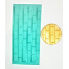 Placa de Textura Marcador Tijolo para pasta americana